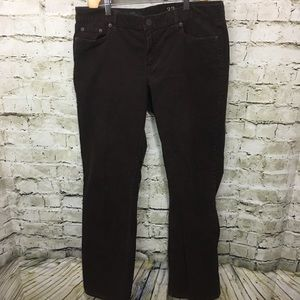 ❤️J Crew Brown Tall Bootcut Corduroy Pants